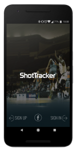 Sign-in screen of a workout app for basketball players