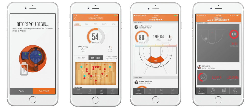UI examples for workout app on iOS smartphones