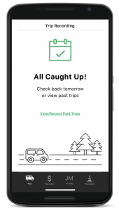 Android phone with a car rental app interface