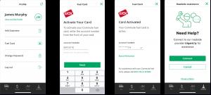 Car rental mobile app development UI screens