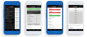 Several mobile UIs with the business process automation app