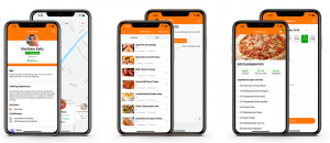 A group of MyTable iOS app UI screens